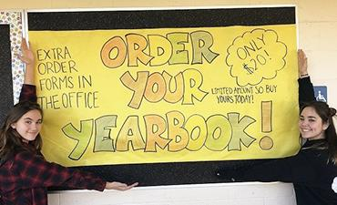 Order your yearbook. Only $20. Limited amounts so buy yours today. Extra order forms in the office.