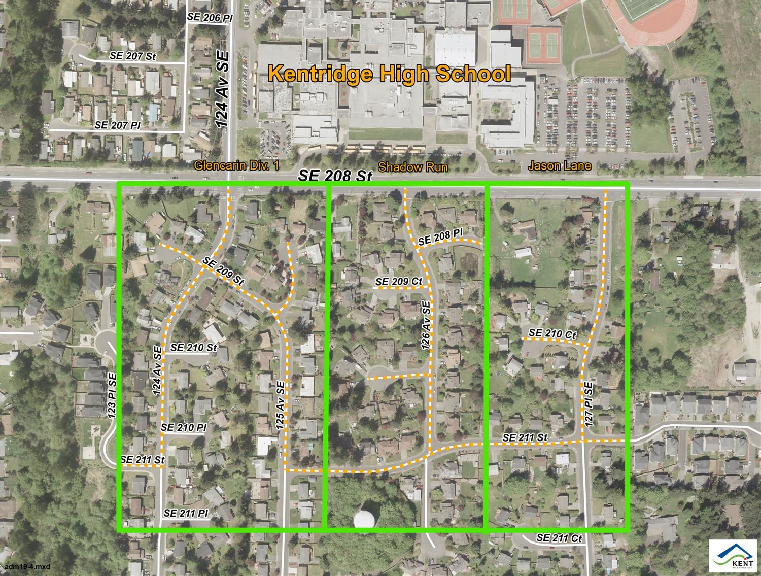 Residential Parking Zone map