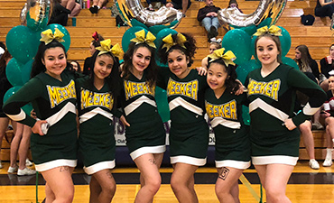 Meeker Cheer Competes for All-State Team