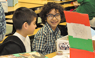 Millennium Elementary students celebrate culture fair.