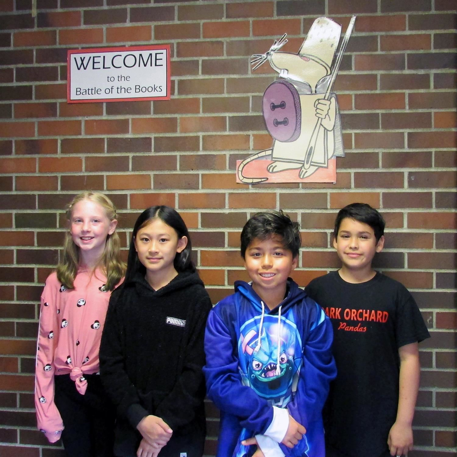 Rylee Mitchell, Sa Hoang, Ben Rolls, & Shammy Paz at the Battle of the Books event