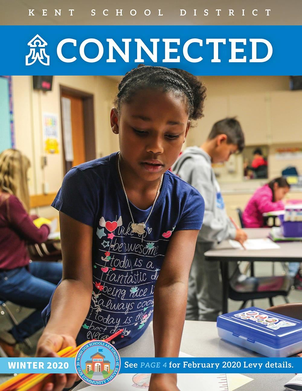 Kent School District Connected Winter 2020 Cover