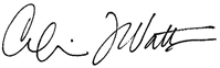 Signature of Dr. Calvin J. Watts