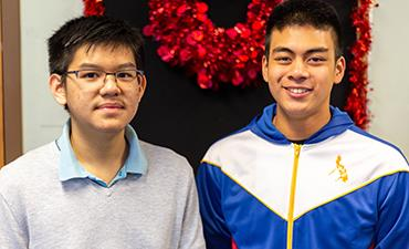 Angelo Herrera and classmate Michael Tran.