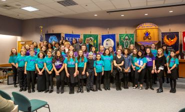 Northwood Choir students, KSD Board, and Dr. Watts