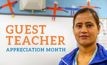 KSD is celebrating our guest teachers.