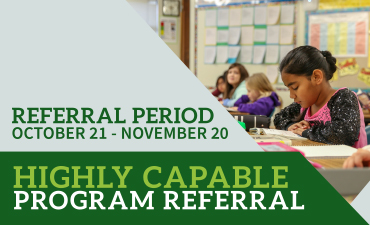 Highly Capable Program Referrals