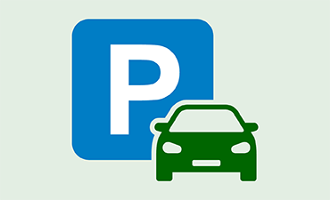 Illustration of a parking sign and car