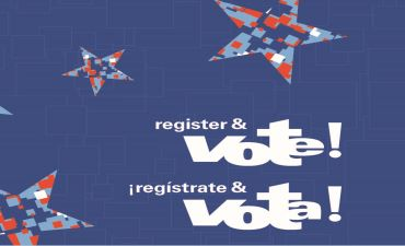 Register to Vote text in English and Spanish
