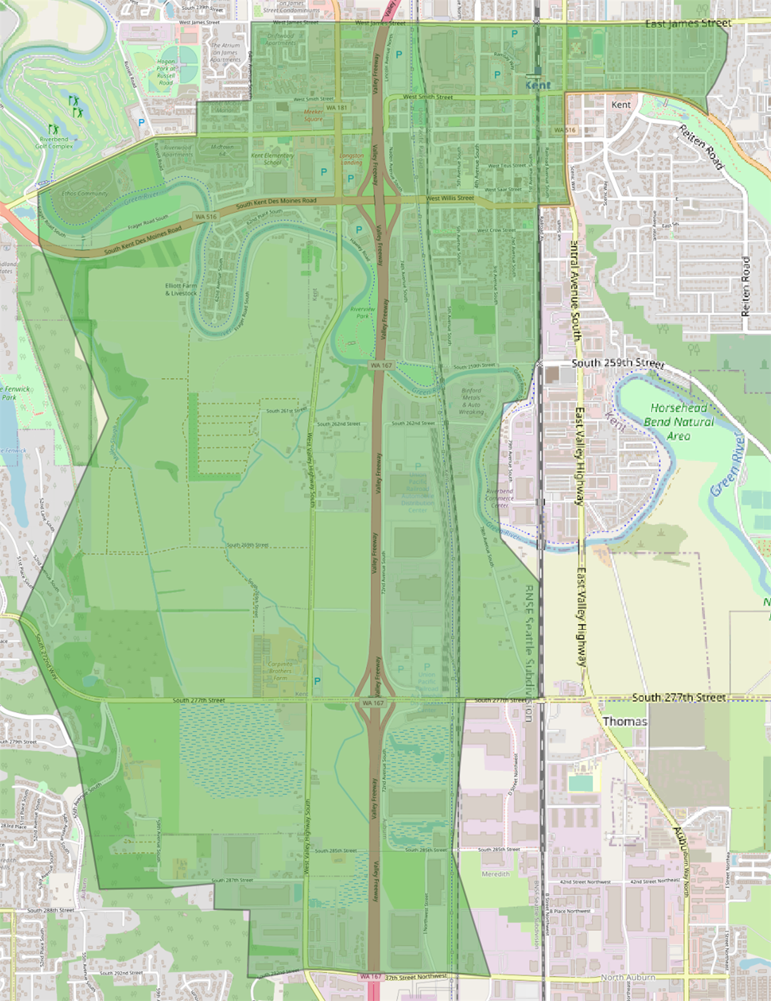 Current Kent Elementary boundary map