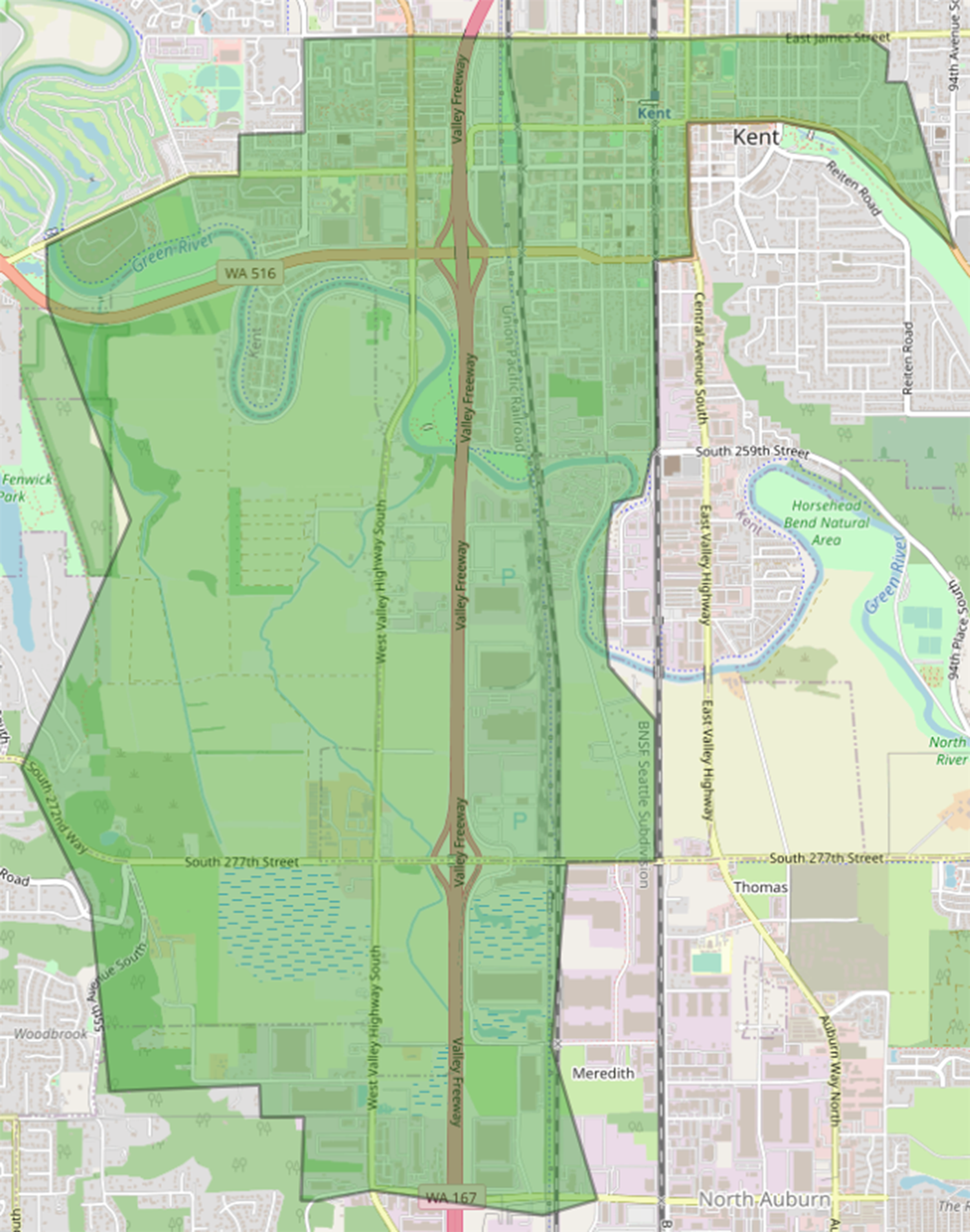 Final proposed new Kent Elementary boundary map